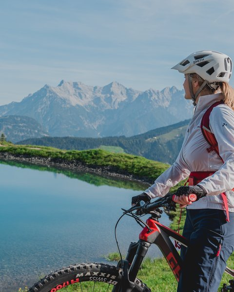 Biken in Fieberbrunn | © ofp communications